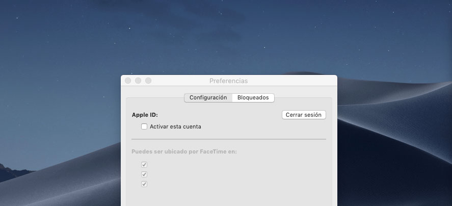 desactivar FaceTime en Macbook